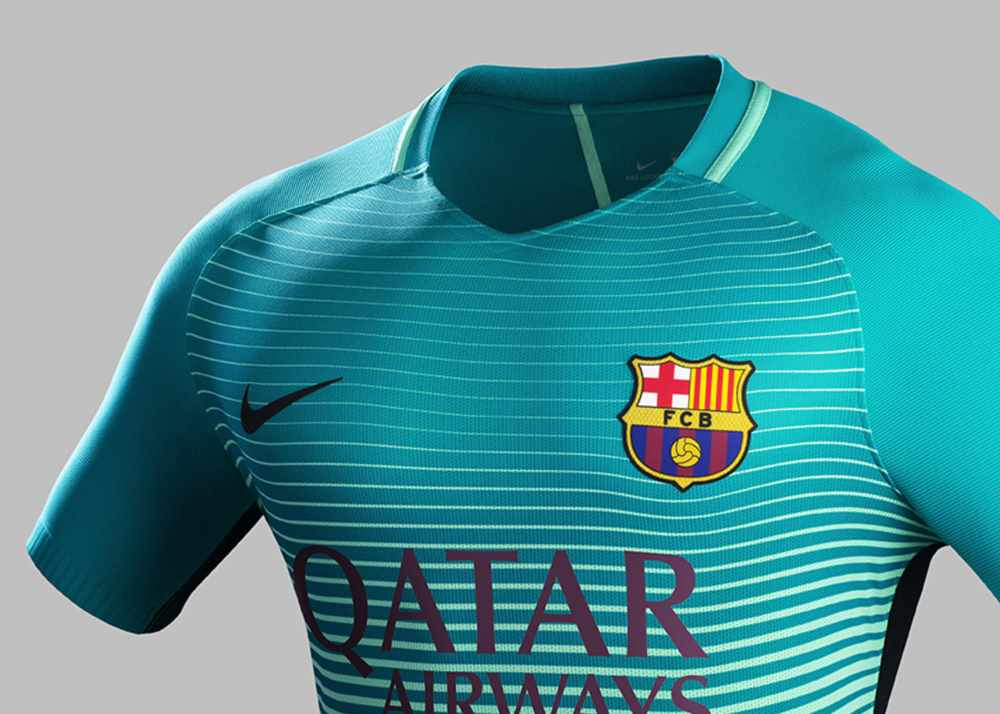 fc barcelone le troisi me maillot nike saison 2016 2017. Black Bedroom Furniture Sets. Home Design Ideas