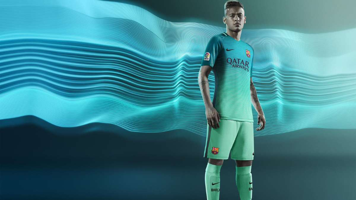 FC Barcelone Third Kit porté par Neymar