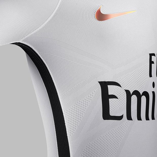 détails du troisième maillot blanc du PSG pour la saison 2016-2017