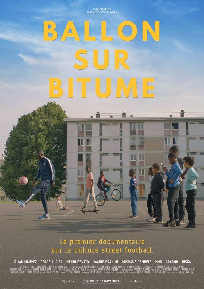 affiche du documentaire ballon sur bitume