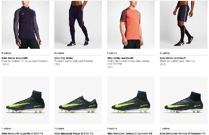 Collection Nike Strike Series
