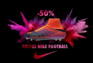 Soldes Chaussures de Foot : -50% sur Nike Football