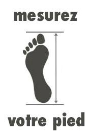 Mesure pied chaussures football