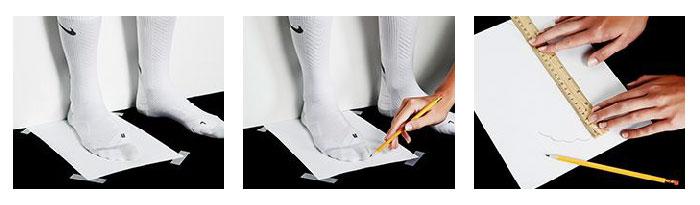 Mesurer la taille de ses pieds en centimètres