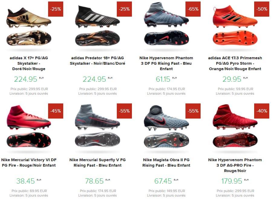 Soldes et Promotion sur UnisportStoreFR - Toutes les Chaussures de Football pas chers