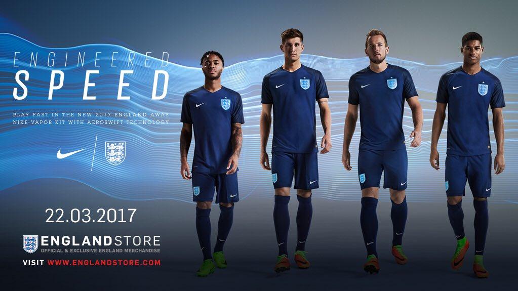 Nouveau maillot extérieur de l'équipe d'Angleterre