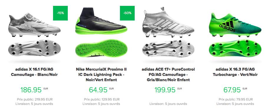 chaussures de foot pas cher unisport
