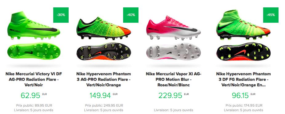 crampons de foot en soldes Unisport