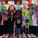 Collection-Maillot-de-Foot-de-Lionel-Messi