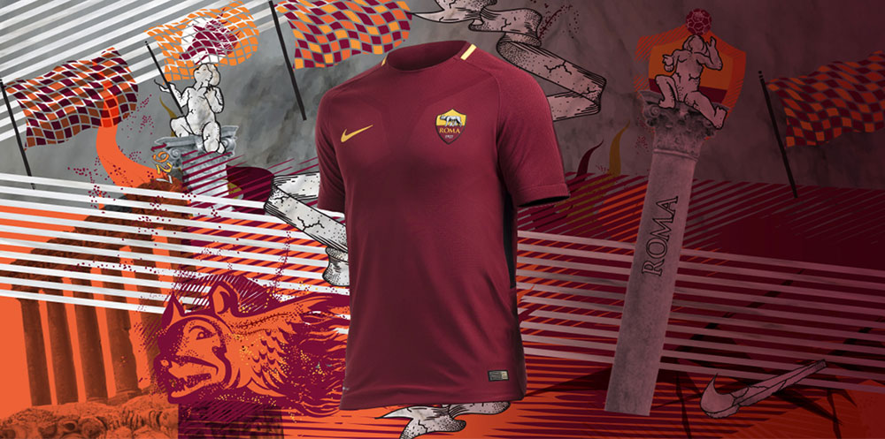 Maillot AS Roma Saison 2017/18