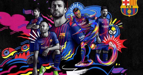 Maillot officiel du FC Barca pour la Saison 2017-2018