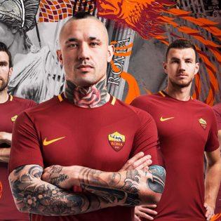 Nike dévoile le maillot de l'AS Roma pour la saison 2017/18