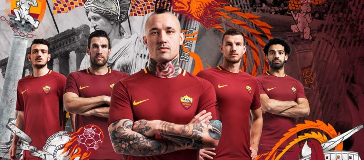 Maillot Nike AS Roma domicile 2017-2018