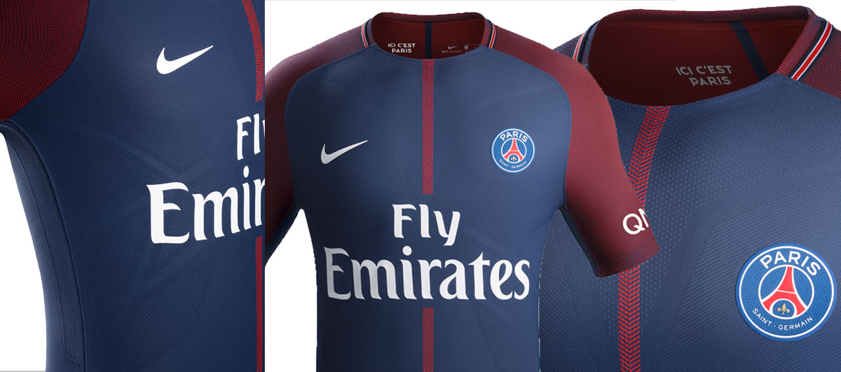 Maillot Nike du Paris Saint-Germain domicile 2017-2018