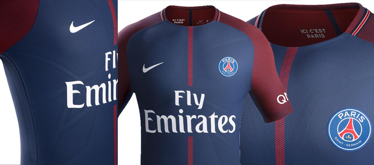 Maillot Nike du Paris Saint-Germain domicile 2017-2018