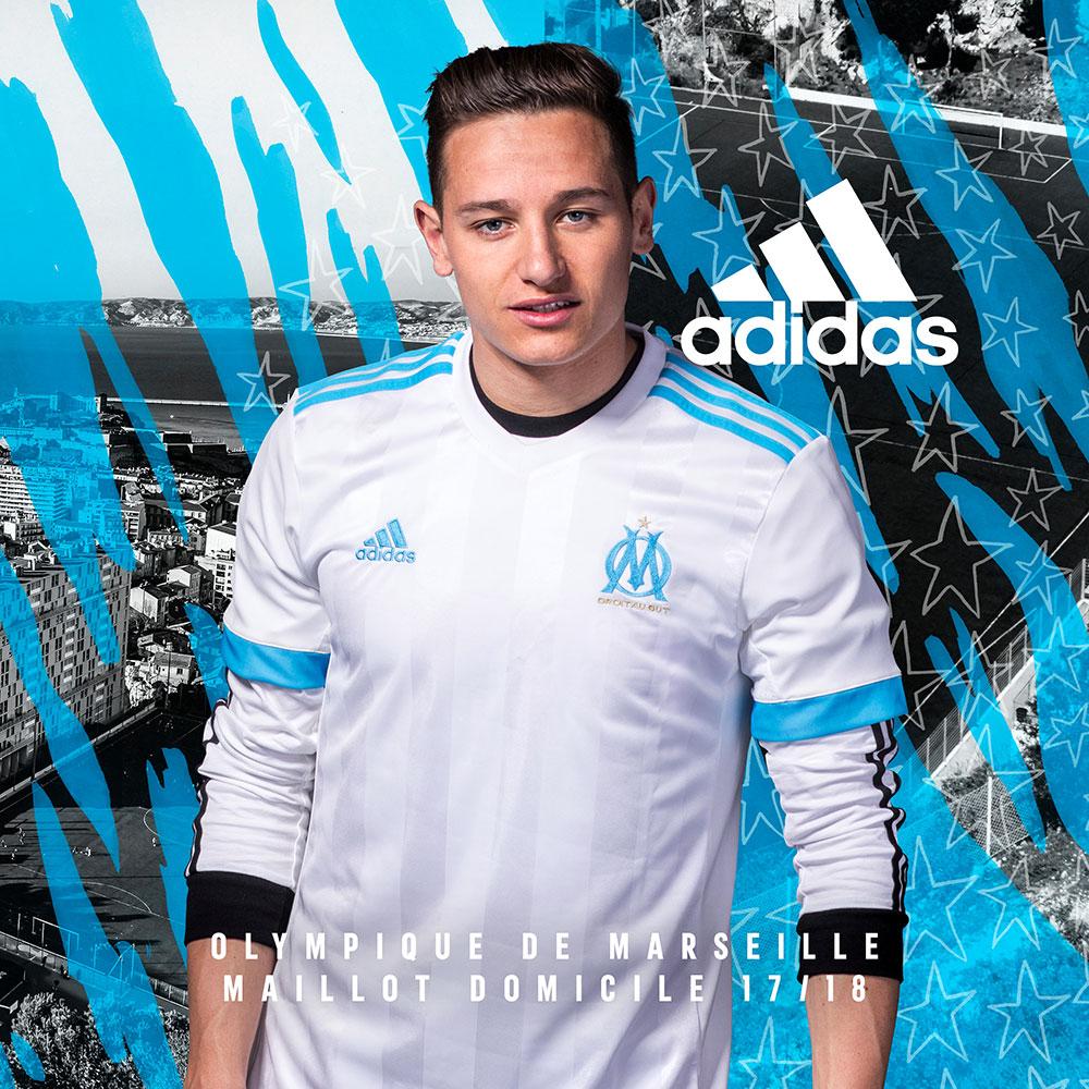 Maillot Domicile de l'Olympique de Marseille - Saison 2017-2018
