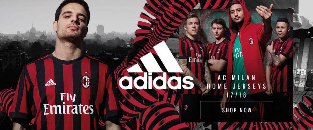 Maillot domicile Milan AC saison 2017-18