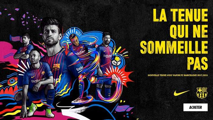 Nouveau Maillot Barca Nike FCB 2018