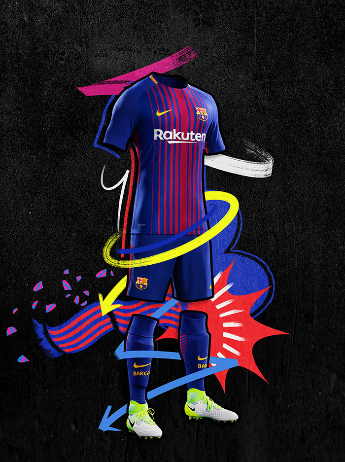 le nouveau maillot du fc barcelone saison 2017 2018 foot inside. Black Bedroom Furniture Sets. Home Design Ideas