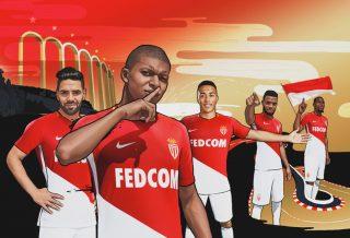 l'AS Monaco dévoile son maillot domicile 2017/18