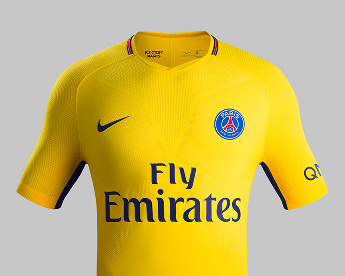 le nouveau maillot jaune du psg en mode joga bonito foot inside. Black Bedroom Furniture Sets. Home Design Ideas