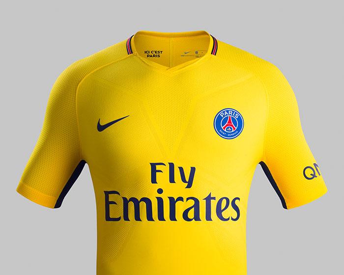 le nouveau maillot jaune du psg en mode joga bonito foot inside