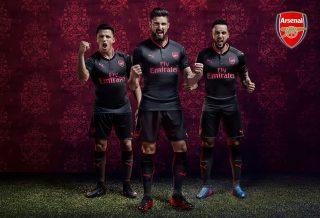 le 3ème Maillot d'Arsenal FC Saison 2017/18 dévoilé