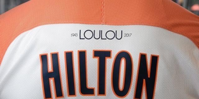 """Hommage à Louis Nicollin """"Loulou"""" à l'arrière du maillot"""