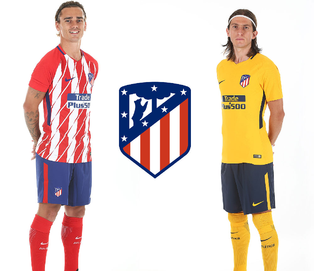 les maillots de l atletico madrid pour la saison 2017 2018 foot inside. Black Bedroom Furniture Sets. Home Design Ideas