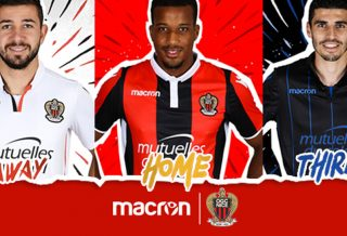 Les Maillots de l'OGC Nice pour la saison 2017/18