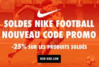 Code Promo Soldes NIKE FOOTBALL Juillet 2017