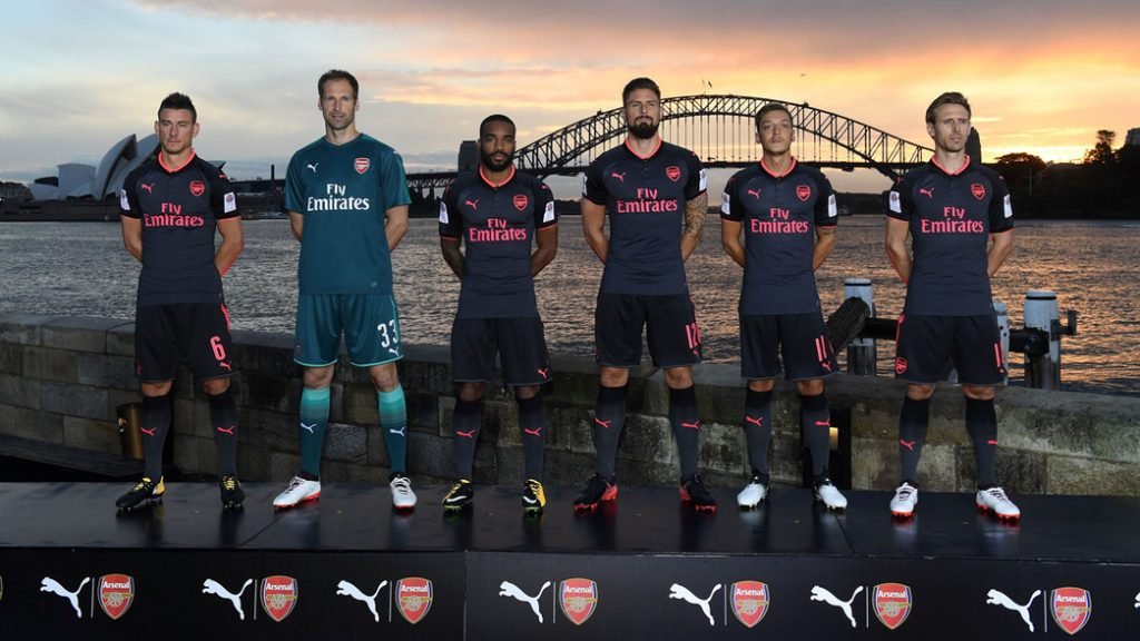 Third Kit launch Arsenal sydney