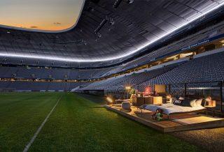 Passer la nuit à l'Allianz Arena avec Airbnb
