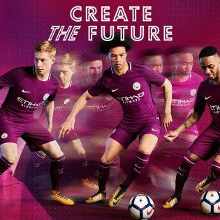 Manchester City dévoile son maillot extérieur 2017-2018