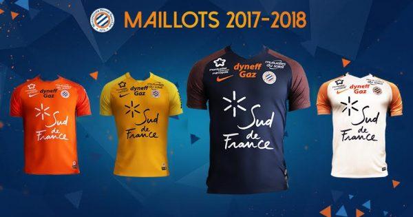 maillot football montpellier saison 2017-2018