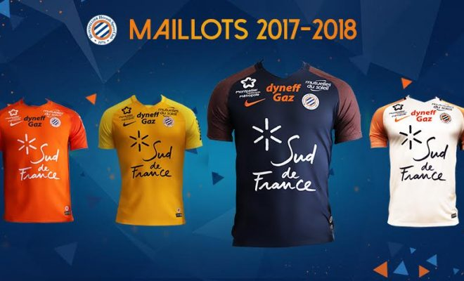 maillot football montpellier saison 2017-2018