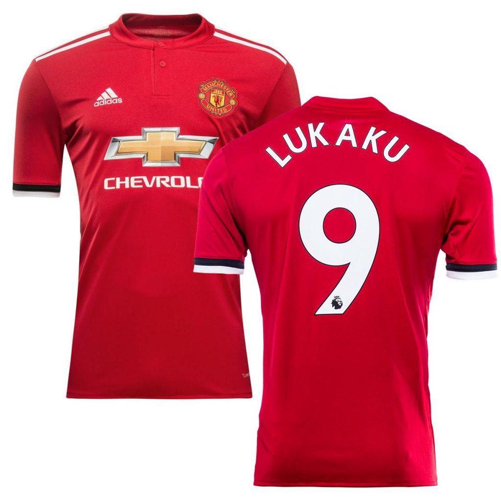 Top 10 Maillot Manchester United LUKAKU 9