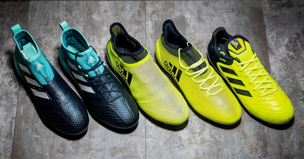 adidas Football 'Ocean Storm' Pack   Foot Inside