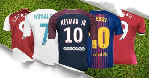 Top 10 maillots de foot vendus en 2017 2018