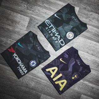 Nike présente les maillots third de Chelsea, Manchester City et Tottenham