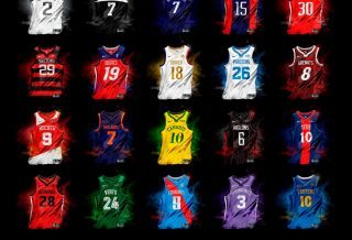 Les maillots de Ligue 1 en mode NBA par Graphic UNTD