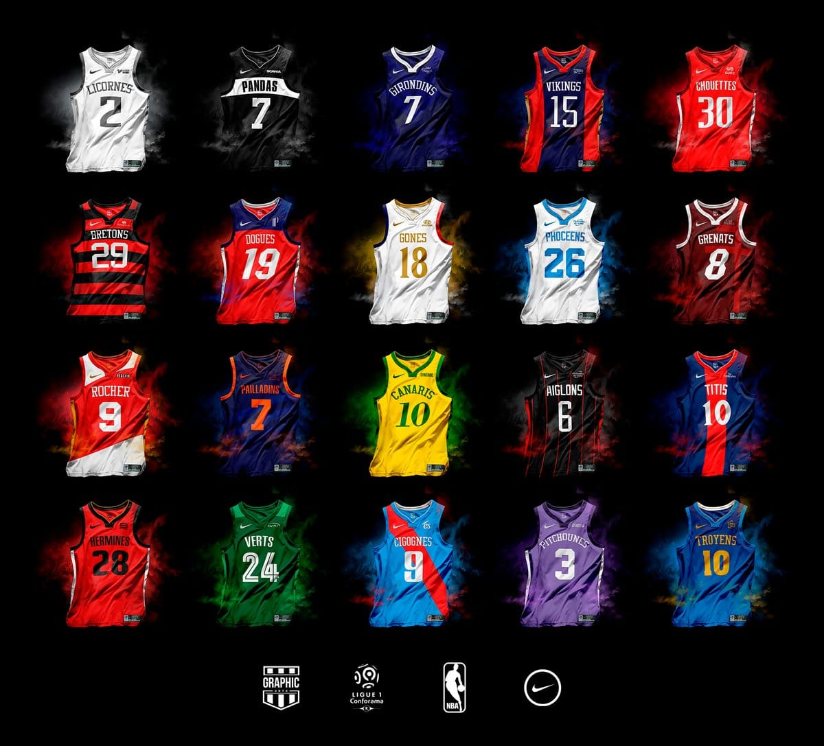 Les Maillots De Ligue 1 En Mode Nba Par Graphic Untd Foot Inside
