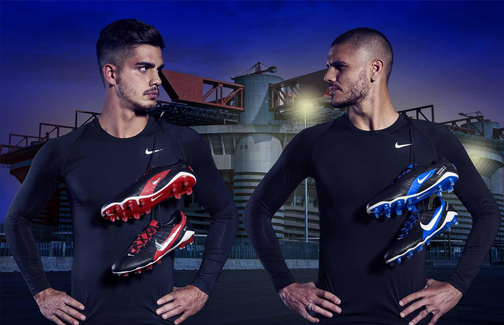 Les Nike Hypervenom GX seront portées par par les joueurs Mauro Icardi(Inter Milan) etAndré Silva(Milan AC)
