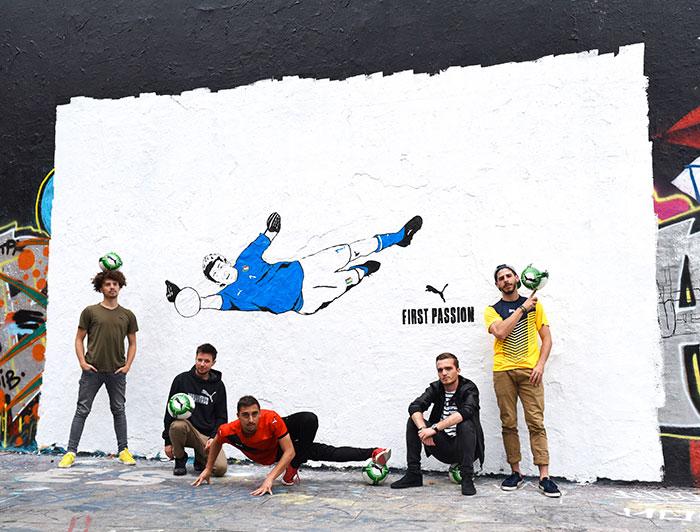 Nouveau Maillot Italie 2018 vu par le collectif de street art Kamp Seedorf