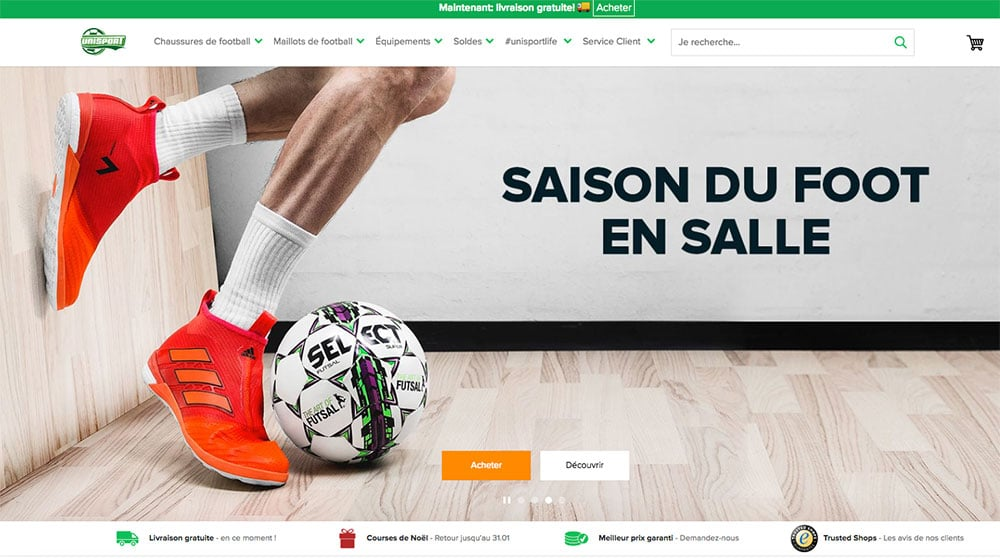 Unisportstore.fr, Le Meilleur Site de Football en France