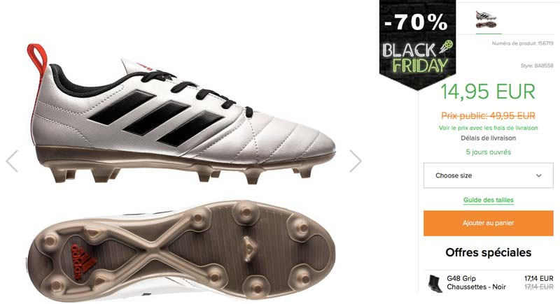 Black Friday Chaussures Football