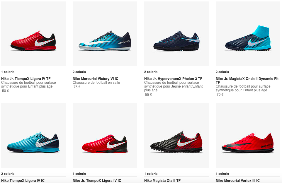 Promotion Chaussures Foot Nike