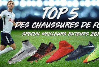 TOP 5 des chaussures de foot des meilleurs buteurs en 2017
