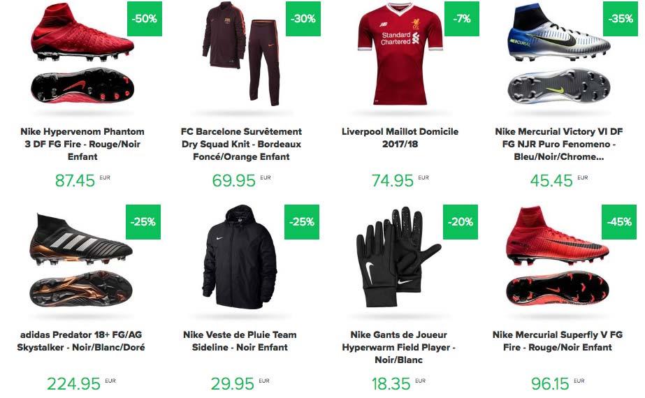 produits foot en promotion sur Unisport