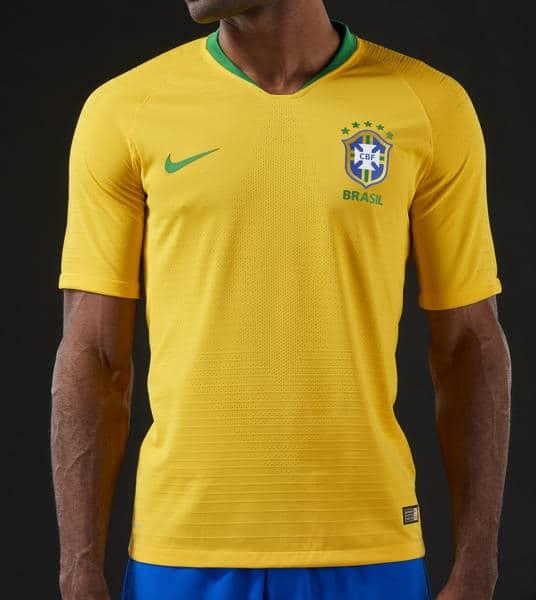 Les Maillots du Brésil pour la Coupe du Monde 2018 dévoilés
